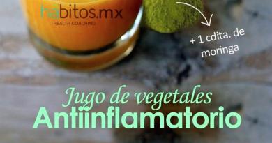 Jugo de vegetales antiinflamatorio