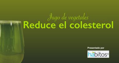 Jugo de vegetales reduce el colesterol