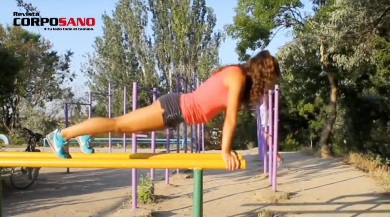 Ejejercicios en el parque (video)