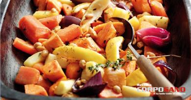 Platillo horneado de verduras de invierno